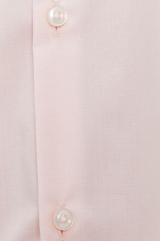 Hugo - Koszula bawełniana pastelowy różowy