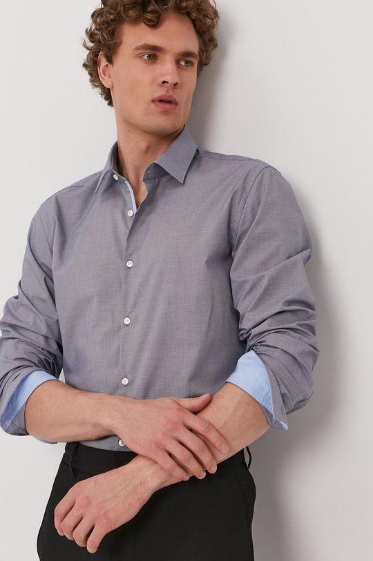 modrá Hugo - Bavlnená košeľa Pánsky