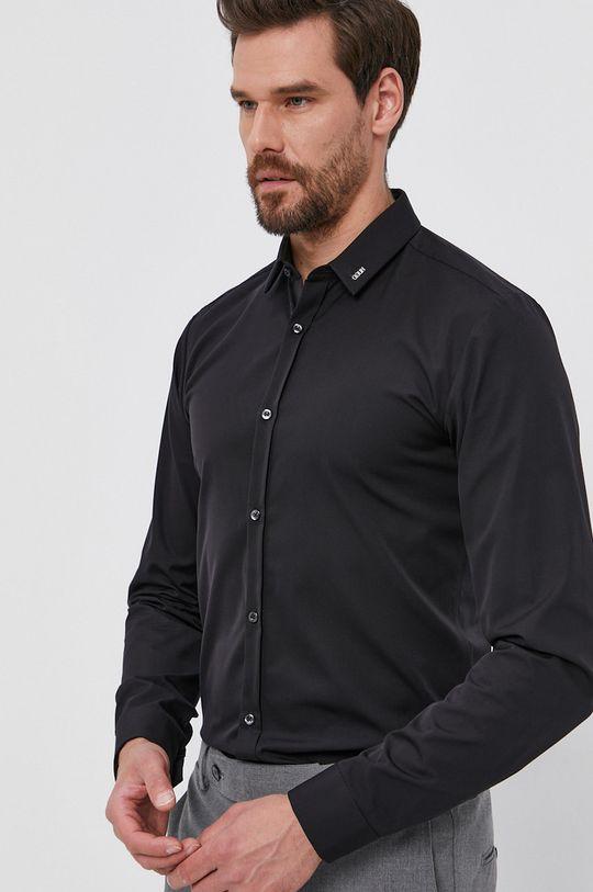 černá Hugo - Bavlněná košile Pánský