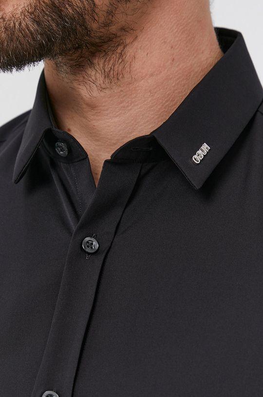 Hugo - Bavlněná košile černá