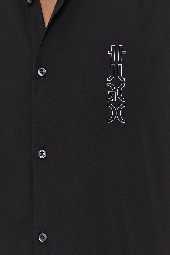 Hugo - Bavlnená košeľa čierna