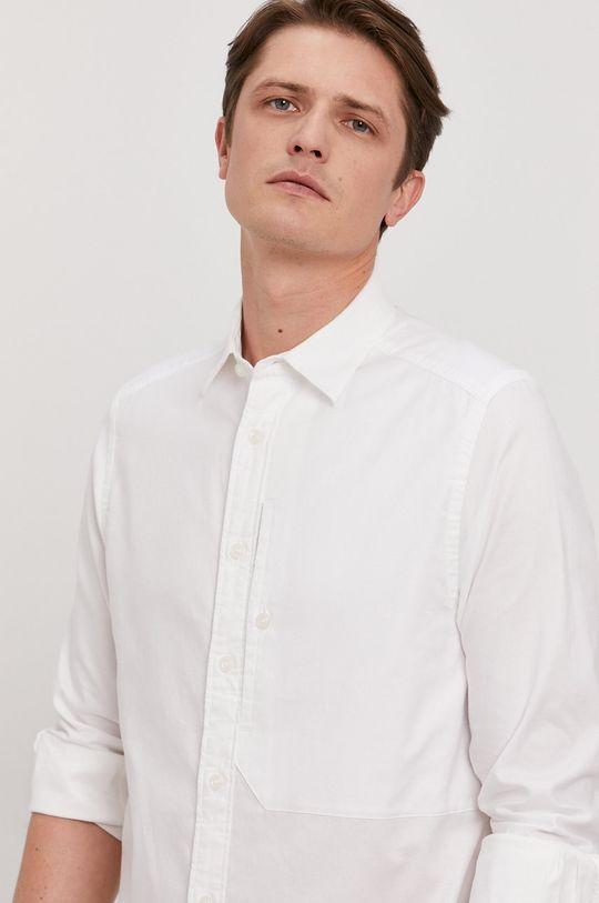biela G-Star Raw - Bavlnená košeľa Pánsky