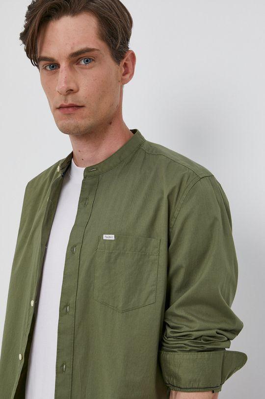 zelená Pepe Jeans - Bavlněné tričko KEVIN Pánský