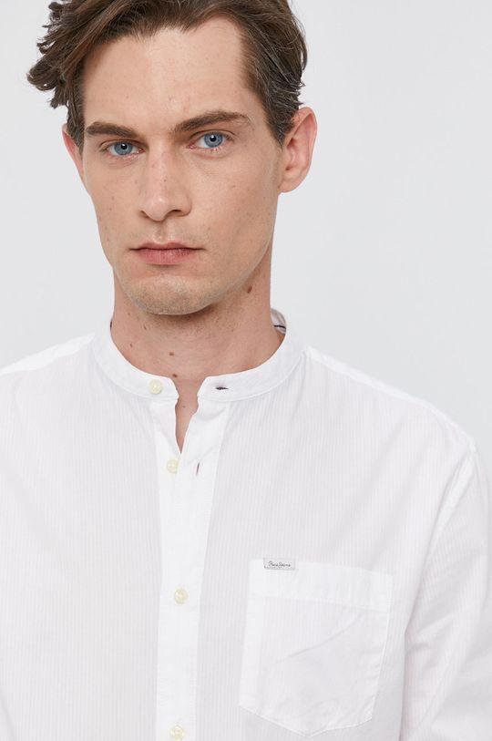 bílá Pepe Jeans - Bavlněné tričko KEVIN Pánský