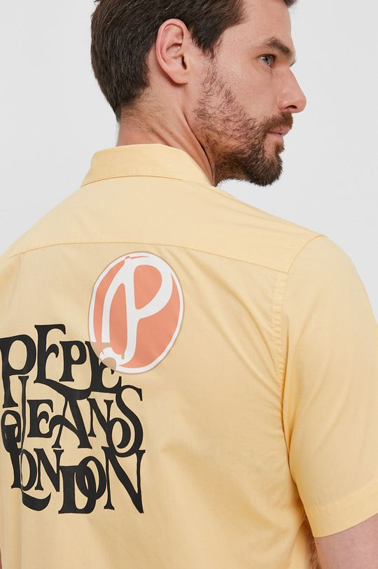 žlutá Pepe Jeans - Bavlněné tričko ANDY Pánský