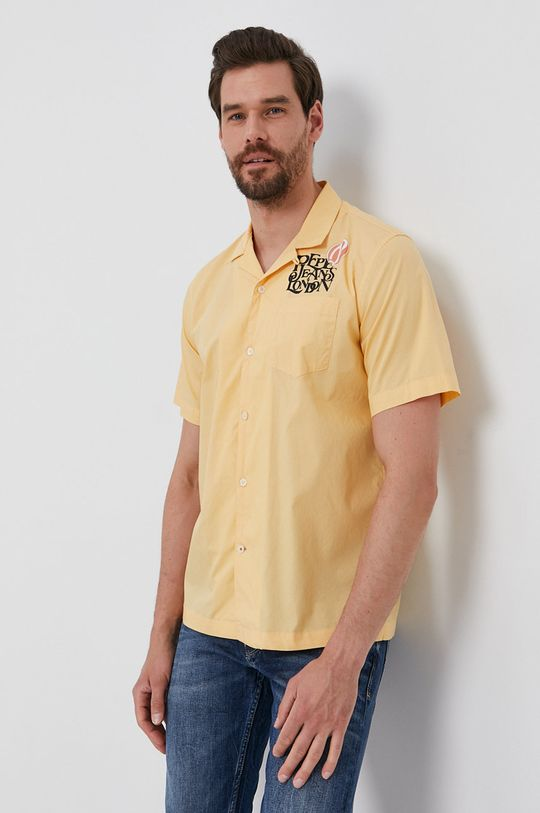 žlutá Pepe Jeans - Bavlněné tričko ANDY