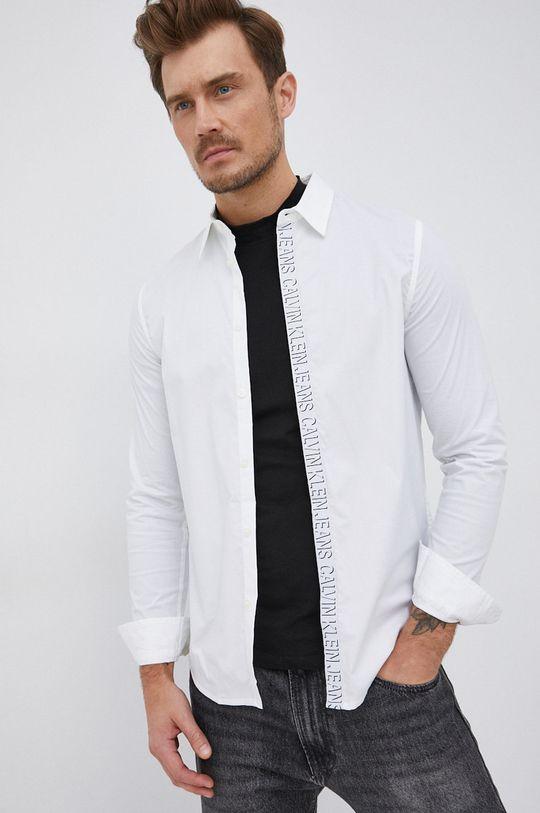 bílá Calvin Klein Jeans - Košile Pánský