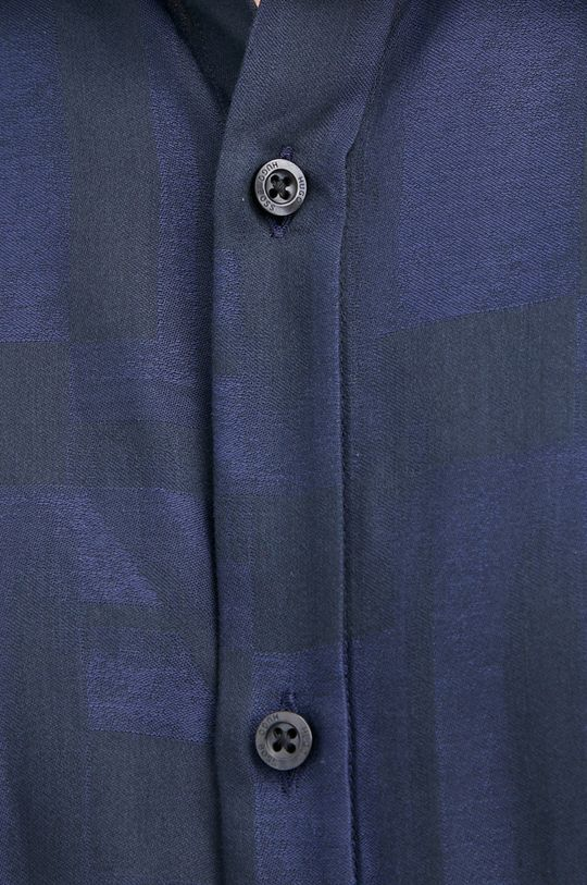 Hugo - Koszula bawełniana granatowy
