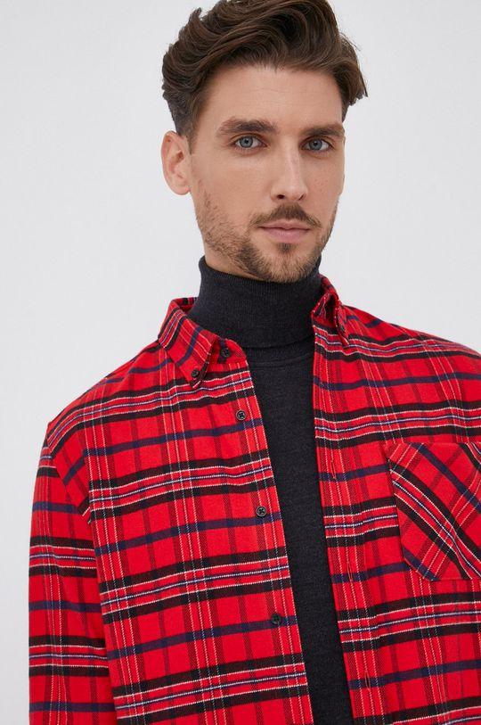 czerwony Hugo - Koszula bawełniana Męski
