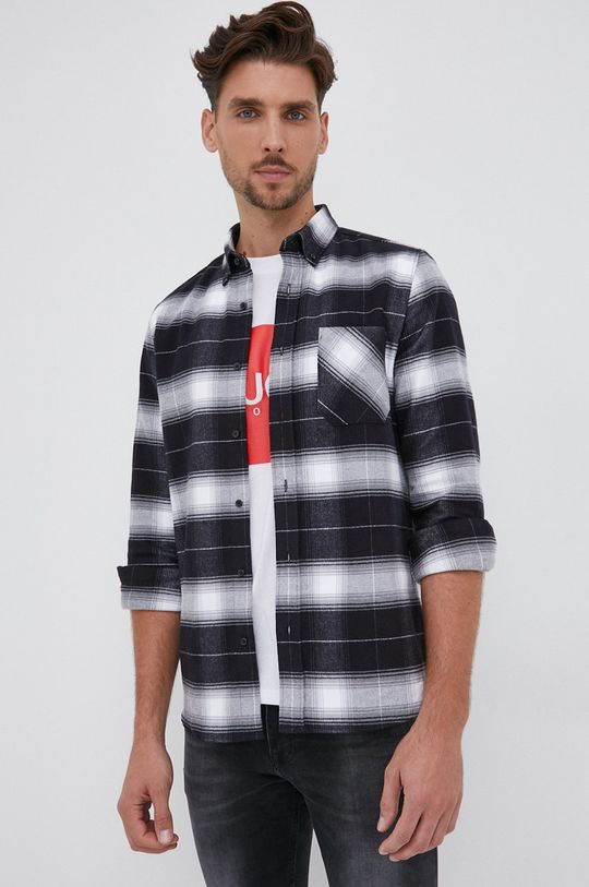czarny Hugo - Koszula bawełniana Męski