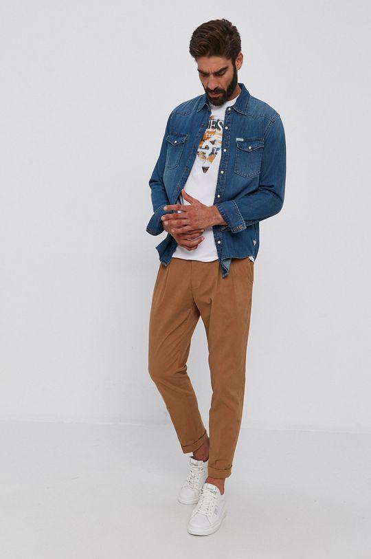 Guess - Koszula bawełniana jeansowa 100 % Bawełna