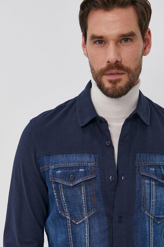 niebieski Desigual - Koszula bawełniana Męski