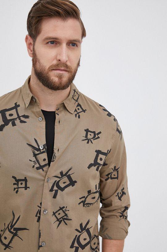 militarny Desigual - Koszula bawełniana Męski