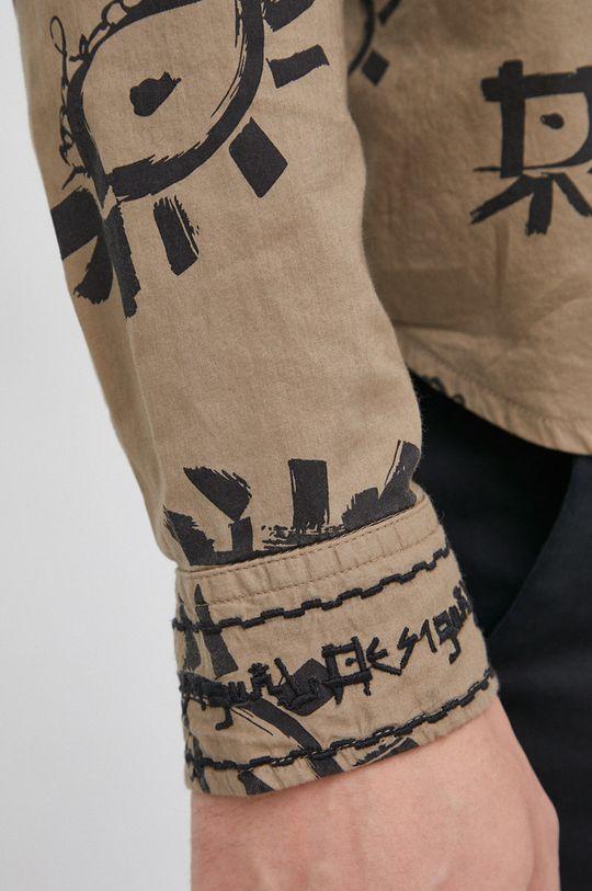 Desigual - Koszula bawełniana militarny