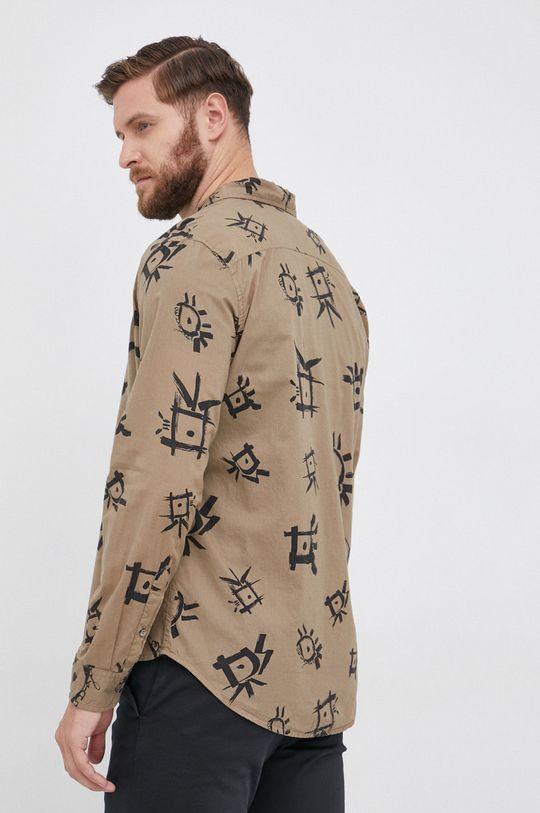 militarny Desigual - Koszula bawełniana