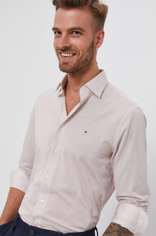 bílá Tommy Hilfiger - Bavlněná košile Pánský