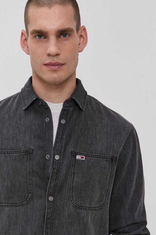 szary Tommy Jeans - Koszula jeansowa Męski