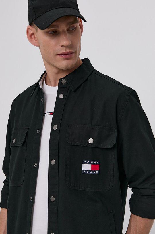 černá Tommy Jeans - Bavlněná košile