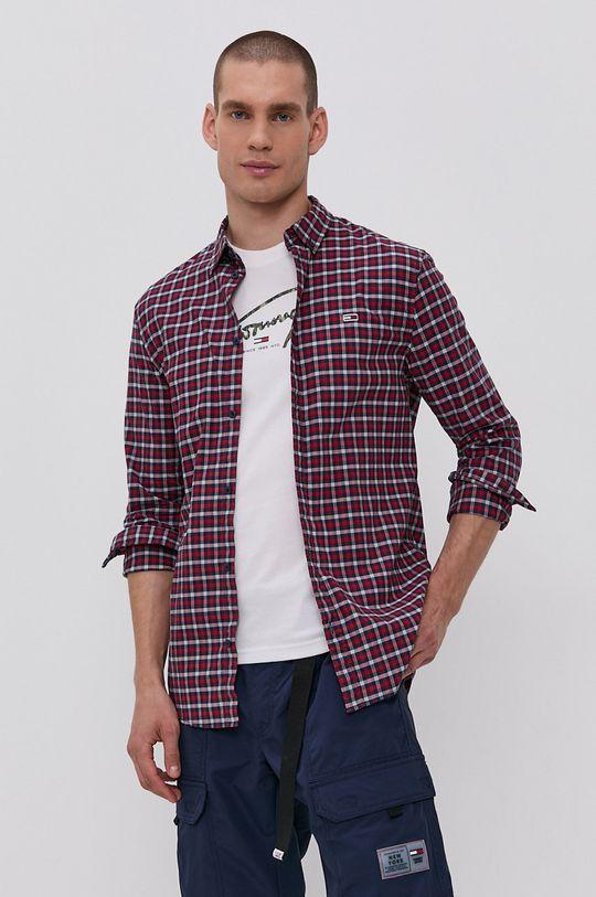 czerwony Tommy Jeans - Koszula Męski