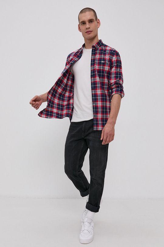 Tommy Jeans - Koszula 96 % Bawełna, 4 % Elastan