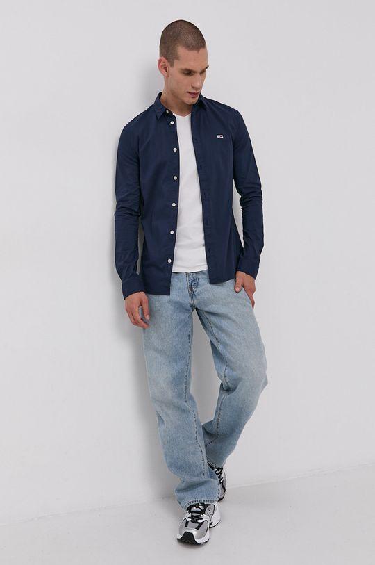 Tommy Jeans - Koszula 64 % Bawełna, 5 % Elastan, 31 % Poliester