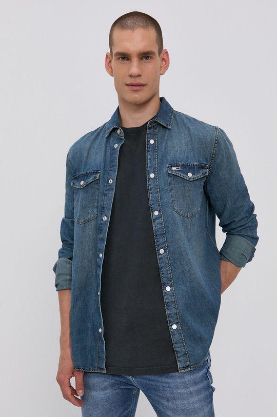 Tommy Jeans - Koszula bawełniana jeansowa niebieski