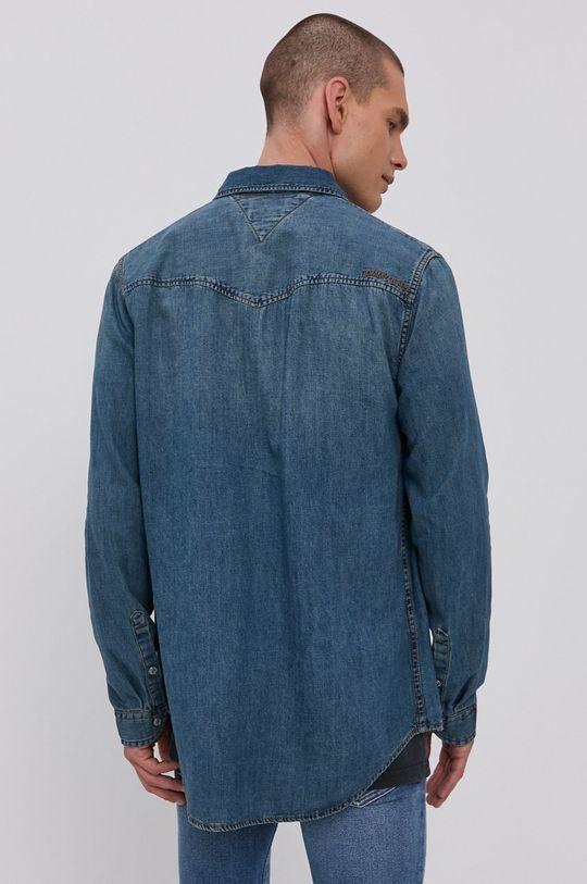Tommy Jeans - Koszula bawełniana jeansowa 100 % Bawełna