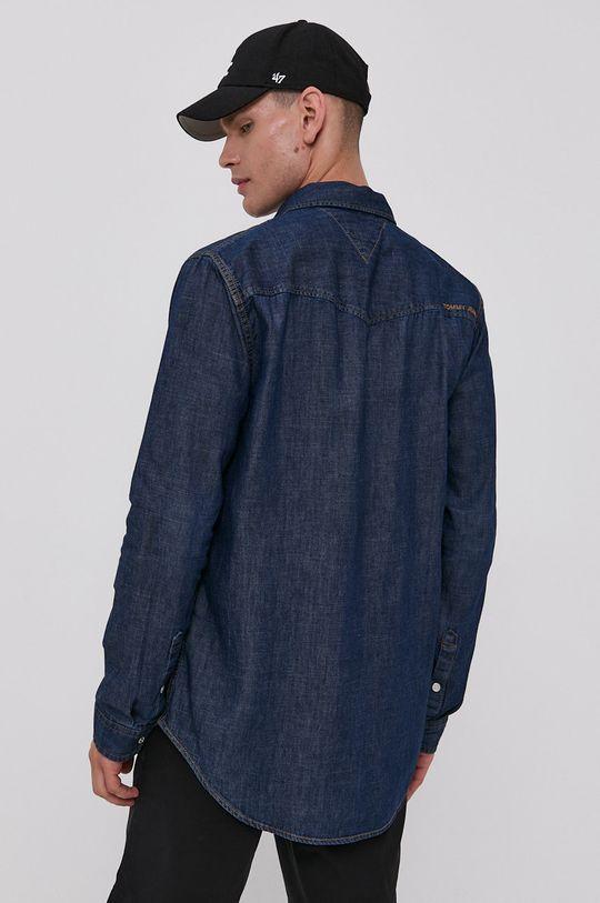 granatowy Tommy Jeans - Koszula bawełniana jeansowa
