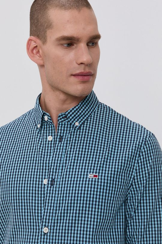 námořnická modř Tommy Jeans - Bavlněné tričko Pánský