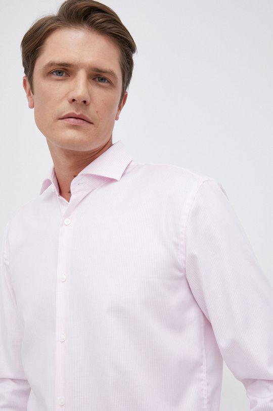 pastelowy różowy Boss - Koszula bawełniana Męski