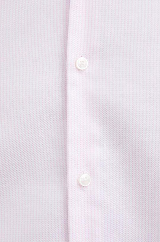 Boss - Koszula bawełniana pastelowy różowy