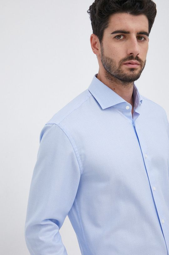 blady niebieski Boss - Koszula bawełniana Męski