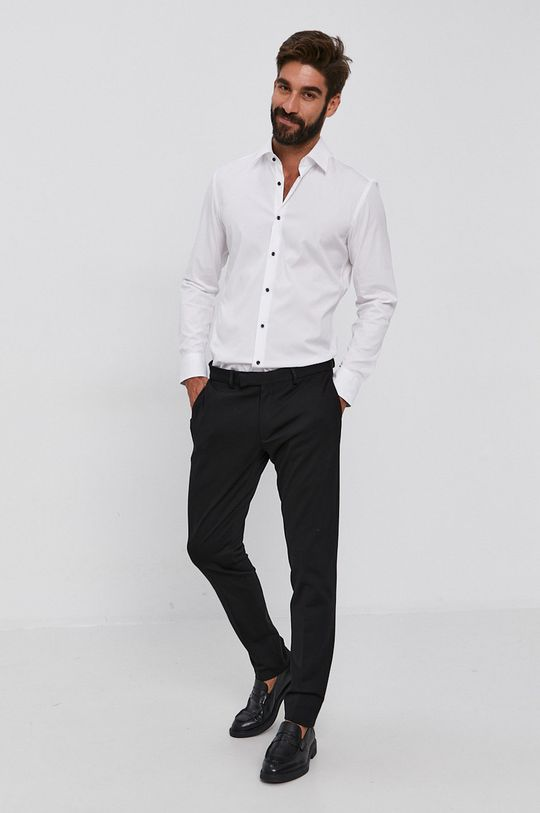 Boss - Koszula 96 % Bawełna, 4 % Elastan
