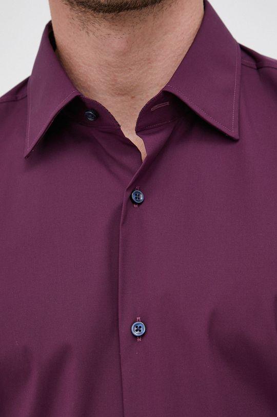 Boss - Koszula ciemny fioletowy
