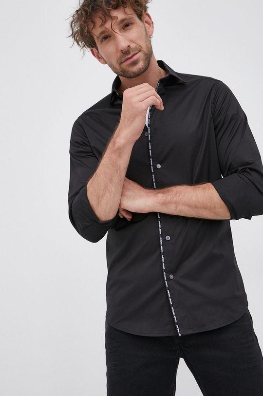 czarny Emporio Armani - Koszula Męski