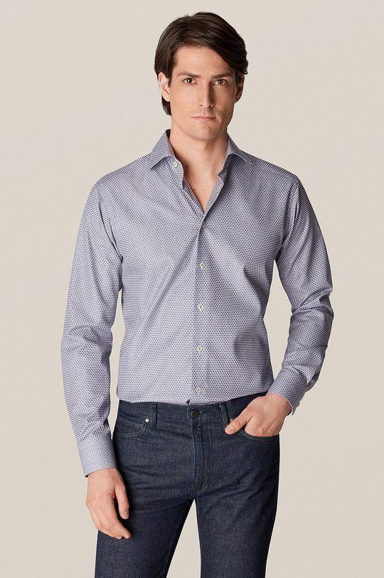 niebieski ETON - Koszula bawełniana Męski