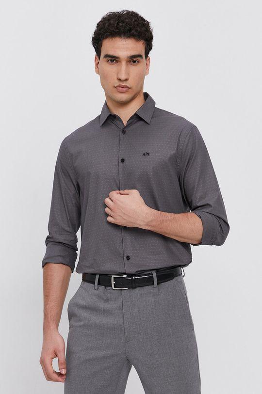 szary Armani Exchange - Koszula bawełniana Męski