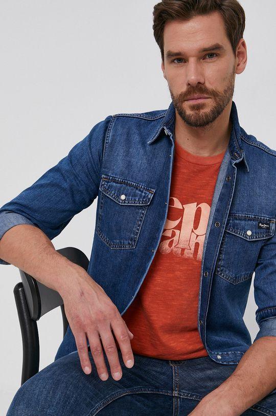 niebieski Pepe Jeans - Koszula jeansowa Hammond Wiser Męski