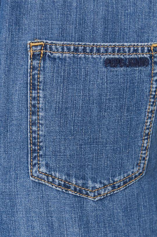Pepe Jeans - Koszula bawełniana jeansowa Porter niebieski