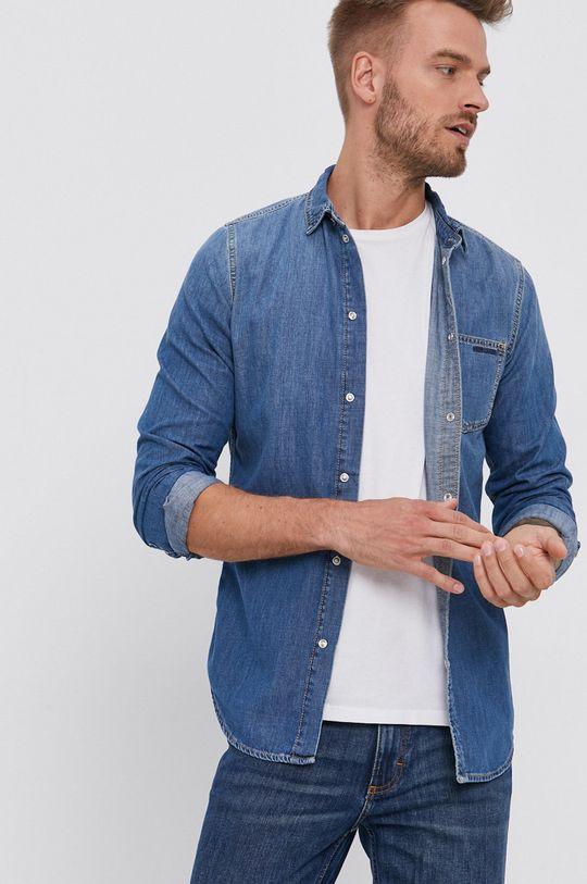 Pepe Jeans - Koszula bawełniana jeansowa Porter Męski