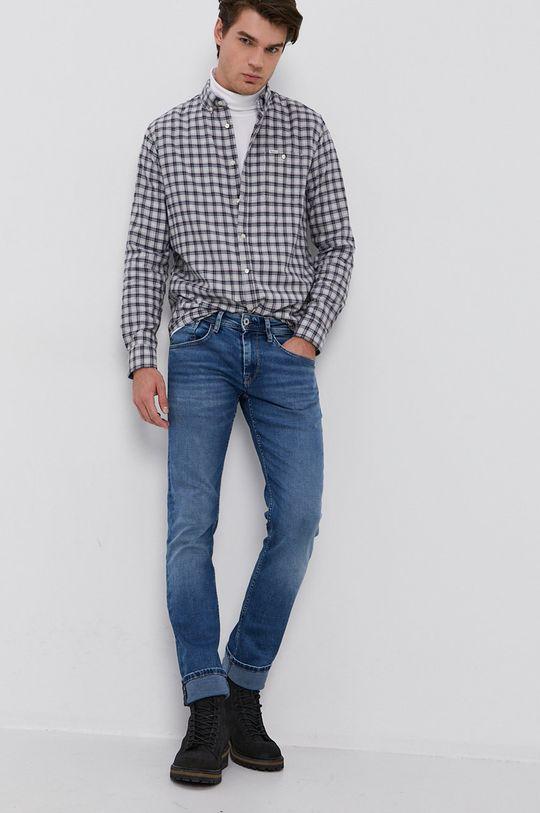 szary Pepe Jeans - Koszula bawełniana Gerard Męski