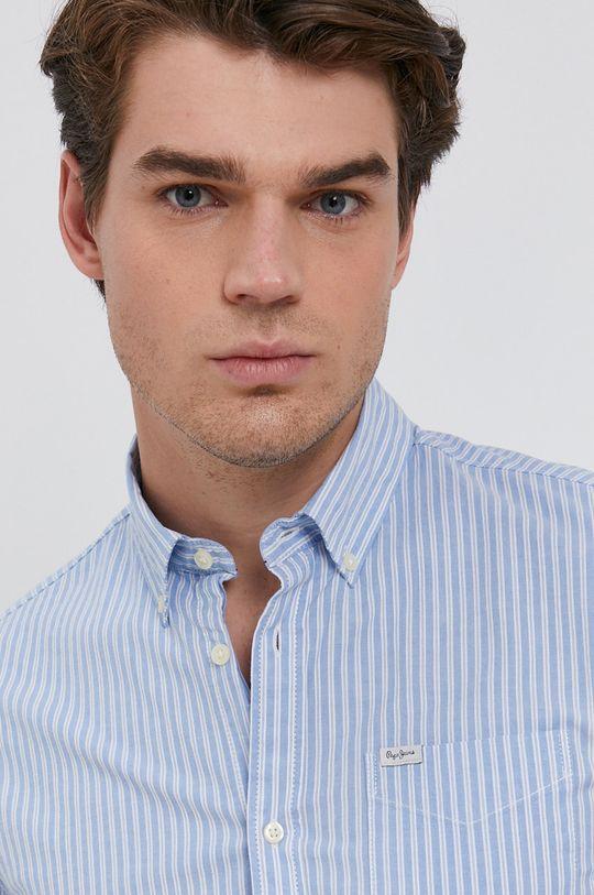 niebieski Pepe Jeans - Koszula Leo Męski