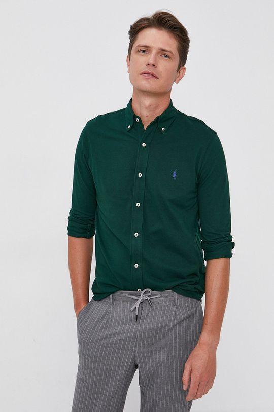 zelená Polo Ralph Lauren - Bavlnená košeľa Pánsky