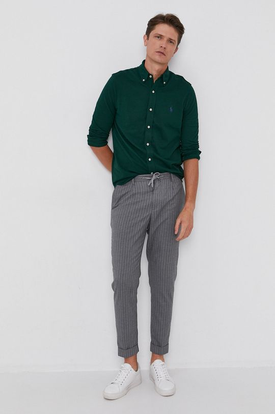 Polo Ralph Lauren - Bavlnená košeľa zelená