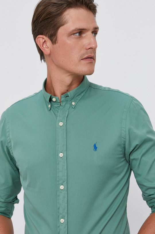 zielony Polo Ralph Lauren - Koszula bawełniana Męski