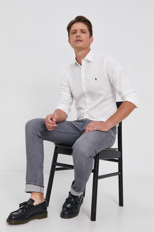 bílá Polo Ralph Lauren - Bavlněná košile Pánský