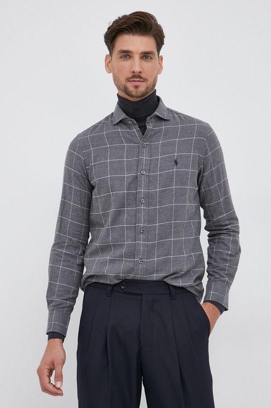 γκρί Polo Ralph Lauren - Βαμβακερό πουκάμισο Ανδρικά