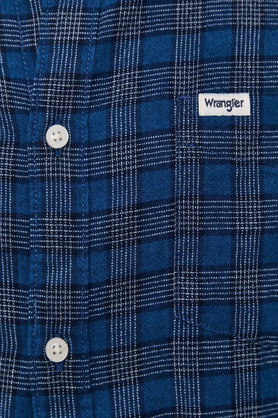 Wrangler - Camasa din bumbac albastru