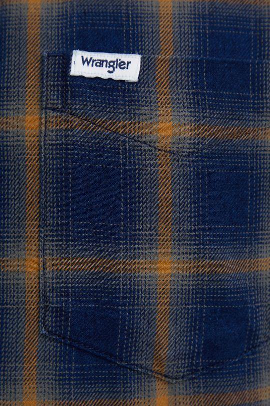 Wrangler - Koszula bawełniana granatowy