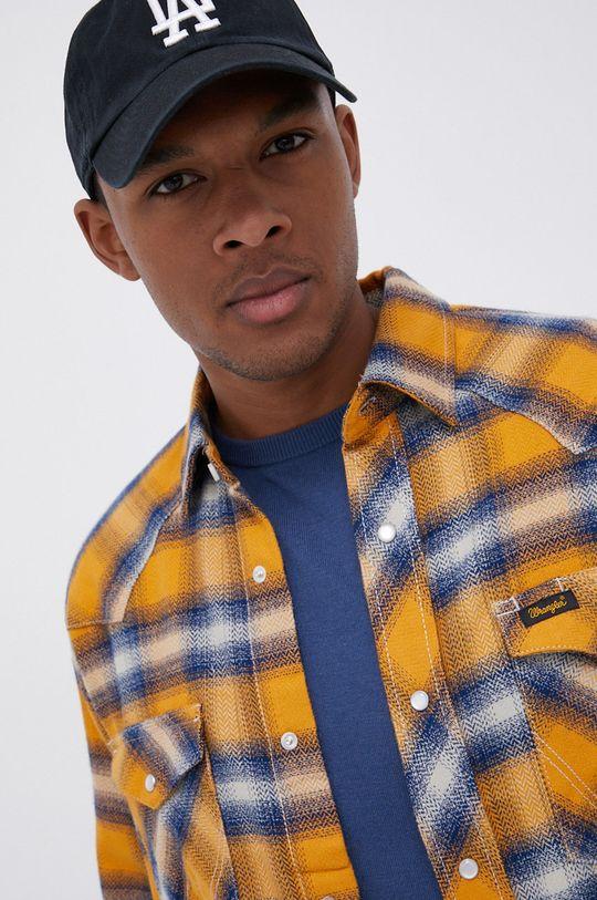 pomarańczowy Wrangler - Koszula bawełniana Męski